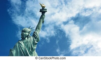 Statue Of Liberty Back View - The Statue of Liberty back...