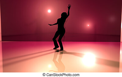 Dancefloor - 3D rendered Illustration.