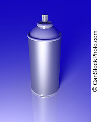 Aerosol Can - 3D rendered Illustration An Aerosol Can