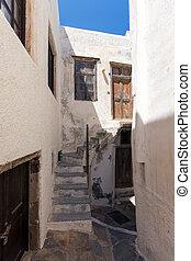 viejo, pueblo, de, Chora, pueblo, Naxos,