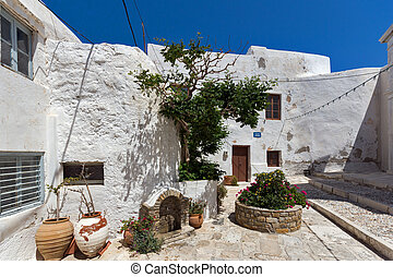 Old houses in Naxos Island - Old houses in the fortress in...