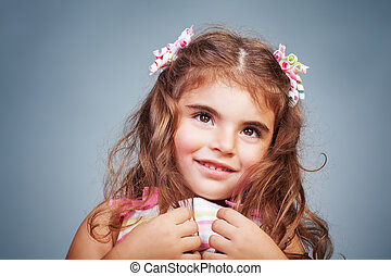 Shy baby girl portrait - Portrait of a nice shy baby girl...