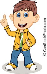 Boy with yellow jacket trousers - Boy with yellow jacket and...