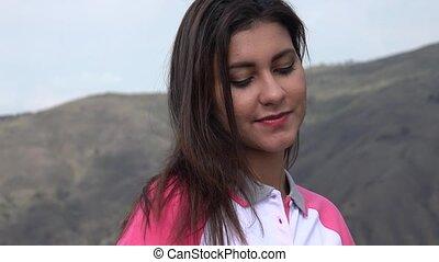 Smiling Hispanic Young Female