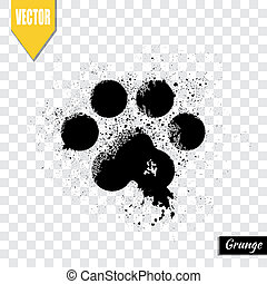 Paw print animal, vector illustration