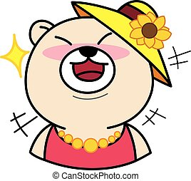 Cartoon Cute Bear Laugh illustration