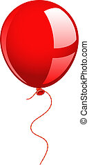 Red balloon over white EPS 8, AI, JPEG
