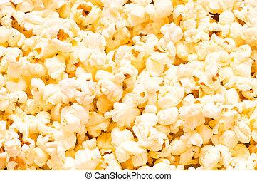 Close up of background - popcorn kernels
