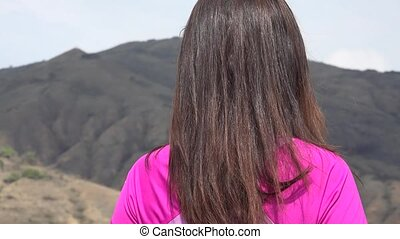 Young Woman Enjoying Mountains