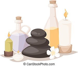 Spa symbols vector illustration. - Spa symbols cartoon...