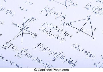 Complex Math Formulas - Closeup shot of complex math...