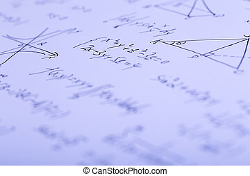 Complex Math Formulas - Closeup shot of complex math...