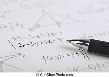 matemáticas, concepto,