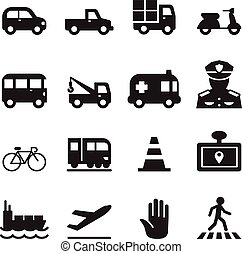 Traffic icon set 2