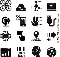 Computer & electronic Technology icon set