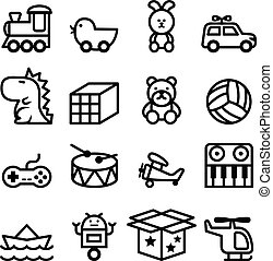 Outline Toy icon set
