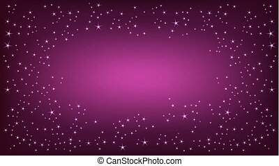 Purple space background. Vector illustration, EPS 10