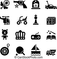 brinquedo, ícones
