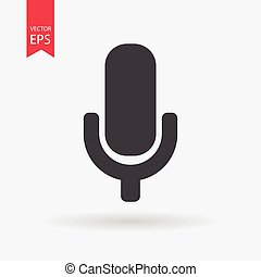 Microphone Icon Vector. Microphone sign isolated on white background