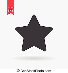 Star Icon Vector. Star sign isolated on white background