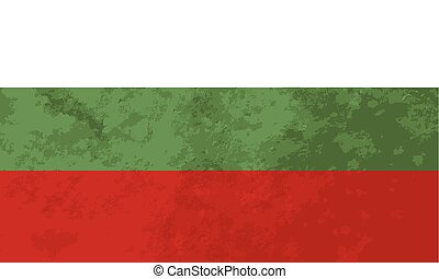 True proportions Bulgaria flag with texture - True...