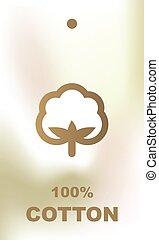 Cotton label - design element