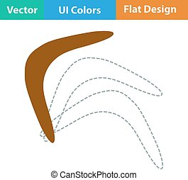 Flat design icon of boomerang in ui colors Vector...