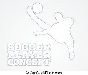 Football Player Concept - An illustration of a silhouette...