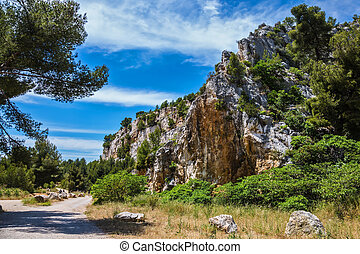 National Park Calanques on the Mediterranean coast....
