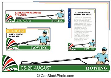 Summer kinds of sports. Rowing.