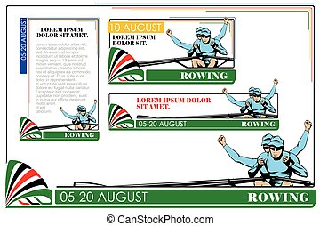 Summer kinds of sports Rowing