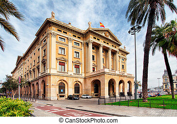 Military government building in Barcelona Spain