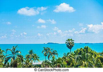 Arial view of sea and beach - Boost up color Processing -...
