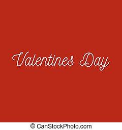 Valentinsdag Saint Valentin, lettering text inscription...