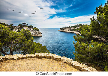 National Park Calanques in Provence - The Calanque with...