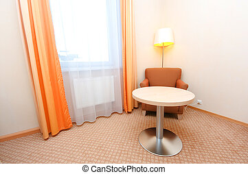 Interior of the hotel room