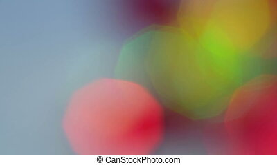 Colorful bokeh lights moving on a blue background. Video...