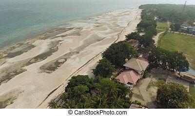 Philippine beach. Aerial view. Anda City. - Philippine beach...