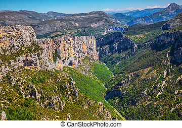 The mountain canyon in France