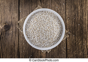 Puffed Amaranth selective focus - Portion of puffed Amaranth...