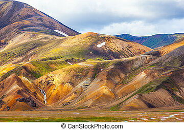 Multi-colored mineral rhyolite - Multi-colored mountains...