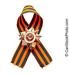 Great Patriotic War medal on a white background - a Second...