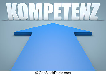 Kompetenz - german word for competence - 3d render concept...