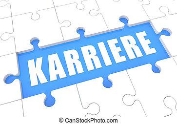 Karriere - german word for career - puzzle 3d render...