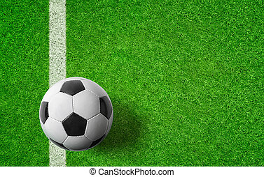 A green Football background with copy space