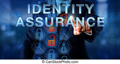 Administrator Pressing IDENTITY ASSURANCE - Administrator...