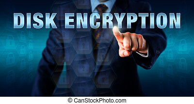 Administrator Touching DISK ENCRYPTION - Corporate network...