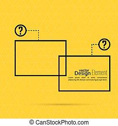 Question mark blank template. Help symbol. FAQ sign icon....