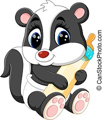 Cartoon skunk - illustration of baby skunk cartoon