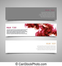 A set of modern vector banners.